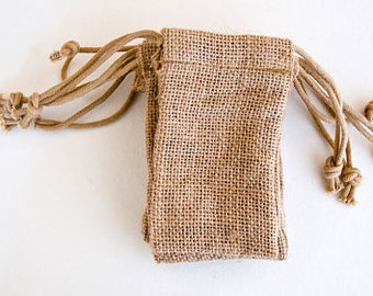 24 6x10 Burlap Bags with Drawstring , favor bags, wedding favor bags, birthday favors, burlap bags, Thank You Rustic Shabby Chic Candy Bags