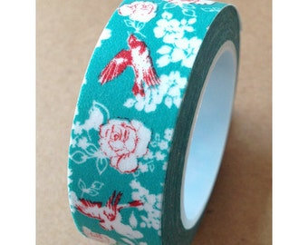 "Washi Tape ""Garden Fantasy"" 15mm x 10 meters"