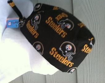 Surgical Hat  Riding Cap  Chemo Cap  Steelers design cap