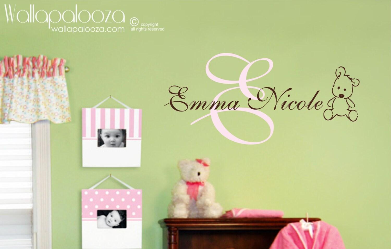 Nursery Wall Art Girl\'s Name Wall Decal Children\'s
