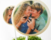 Edible Image Lollipops (12) - Custom Wedding Favors - Logo Lollipops - Party Favors - Photo Lollipops
