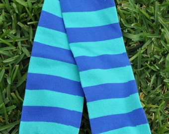 Blues Stripes Leg Warmers- customize available