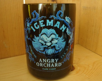 SET OF 2 Angry Orchard Iceman Hard Cider Bottle Glass 18 oz