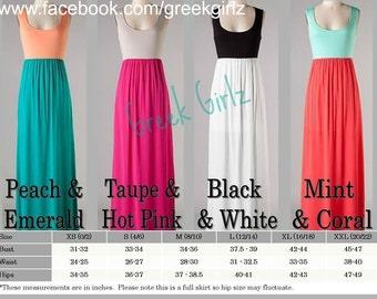 Maxi Dress Monogrammed