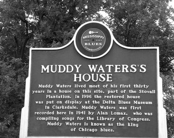Muddy Water's House, Music Photography, Fine Art Photography, Blues Music, Black and White Photography
