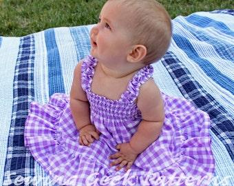The Audrey Dress - Girl's Sundress PDF Pattern. Shirred Summer Dress. Girl's Sewing Pattern. Toddler Dress Pattern. Sizes 3 months - 6 years