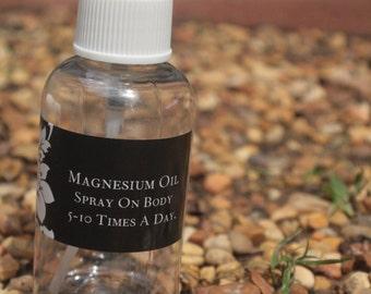 Magnesium Oil - 2 oz Spray Bottle - Magnesium Supplement