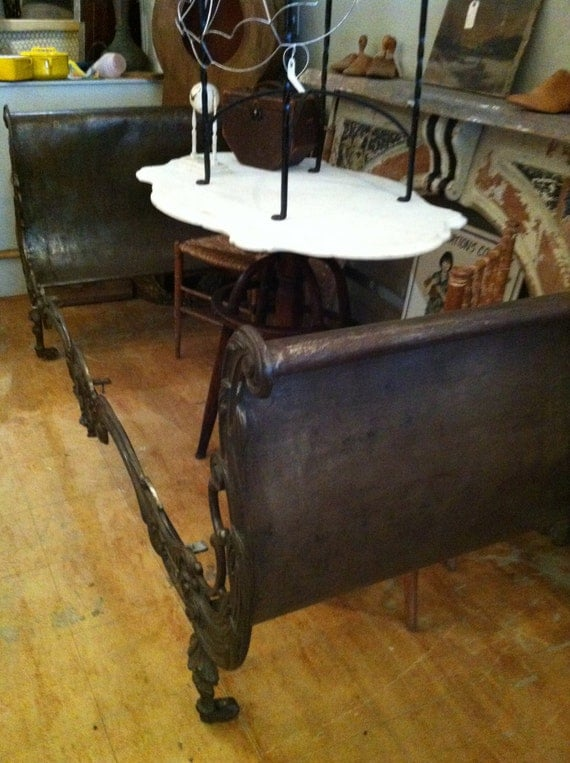 Rare Antique French Cast Iron Daybed 19th Century