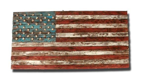 American flag weathered wood one of a kind by American flag wood wall art