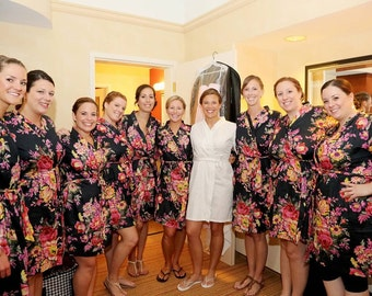 Bridesmaids robes Kimono Crossover Robes Spa Wrap Perfect bridesmaids gift getting ready robes Bridal shower party favors