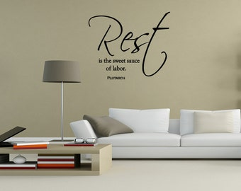 Rest Is The SweetT Sauce Of Vinyl wall lettering sayings words decals art Decor (A001)