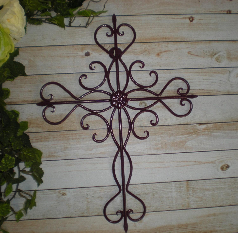 PLUM Metal Cross / Wall Art / Religious Cross / Home Decor