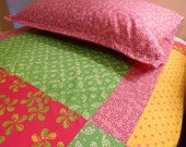 Girls Doona Cover Set, colorful cotton batik, Single Bed Cover Set