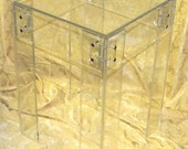 Lucite-Acrylic End table with metal-brass screws - fully customizable sizing available