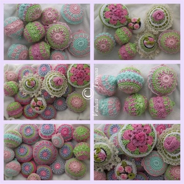 Christmas tree balls. Home Decor. Cozy holidays. Handmade crochet. Shabby chic. Winter. Wedding Decor.