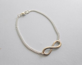Infinity Silver Bracelet - infinite bracelet - charm bracelet - infinity charm bracelet