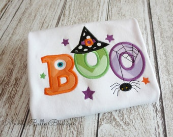 Cute Halloween BOO Embroidered Shirt - Children's shirt, Halloween, Fall, Boys Shirt, Girls Shirt, Baby, Toddler, Children's Clothing