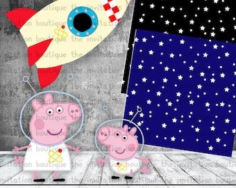 PEPPA PIG Clipart Space Adventure Set