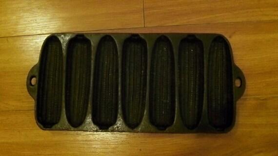 Vintage Cast Iron Cornbread Mold by LoriannsVarietyShop on Etsy