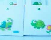 CLEARANCE - 30 Green turtle favour boxes -  birthday/baby shower favours - table decorations - turtle treat boxes - turtle themed goody box