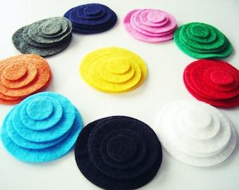 30 Felt Circles, Mix & Match, Die Cut Felt Circles, Rainbow Felt Circles, Felt Die Cut Circles
