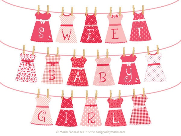 Girl Baby Shower Banner Printable: Sweet Baby Girl Pretty