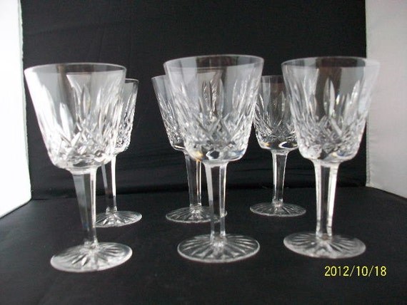 Waterford crystal lismore wine glasses - Wedgwood crystal wine glasses ...