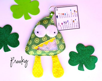 Sale: Prooky  Monster, I Spy Bag Educational Toy - Monster Toy - Monster Party -Boy Gift -Flannel *Ispy bag *Look and Find
