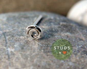 CARTILAGE Swirl sterling silver/ cartilage earring tragus gold tragus earring cartilage gold cartilage ring nose studs