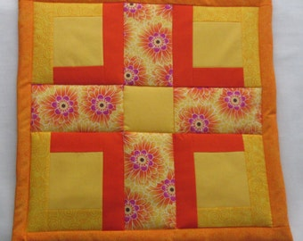 Lil' Ray of Sunshine series mini quilt 3