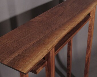 Live Edge Hall Table: Handmade Wood Furniture for Narrow Hall Table/ Entry Console Table- CLASSIC COLLECTION