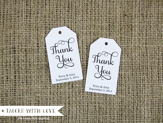 Thank You Tag - Wedding Favor Tags - Custom Thank You Tags - Party Favor Tags - Bridal Shower Tags - Product Thank You Tags - SMALL