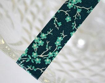 Japanese Flower Navy Blue Washi Tape