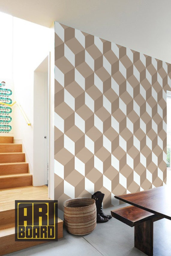 3d Illusion Cubes Self Adhesive Diy Wallpaper Home By