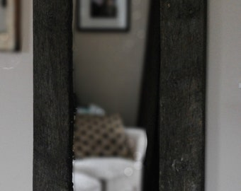 Mirror, Full Length, Framed with Reclaimed Wood Horse Fence