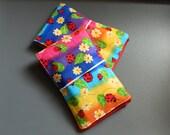 Rainbow Lady Bugs Memo Pad & Crayon Keeper/Holder
