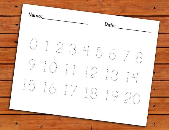 0 20 Number Trace Worksheet PDF Printable