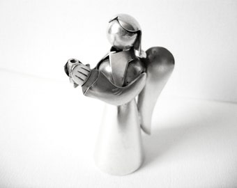 Vintage Sterling Silver Angel Figurine Made In Mexico