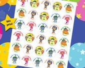 30 ct Team Umizoomi personalized stickers birthday party favor tags labels cupcake toppers decoration