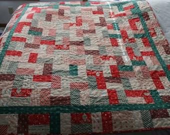 Jolly Jelly Roll Quilt -- Dear Santa Fabric