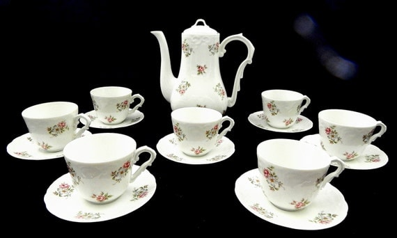 Princess House Tea Set Vintage Porcelain Tea Set By