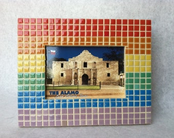 Rainbow Mosaic Picture Frame