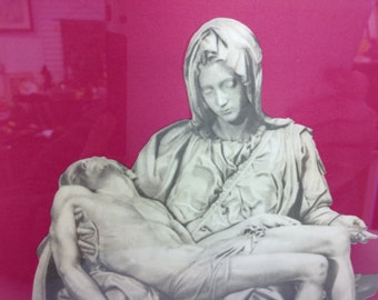 La Pieta by Michelangelo Print 1958
