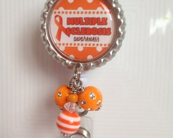 Multiple Sclerosis Awareness- Retractable ID Badge Holder