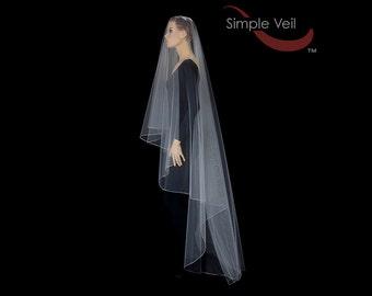 110 inch Drop Veil, Pencil Edge