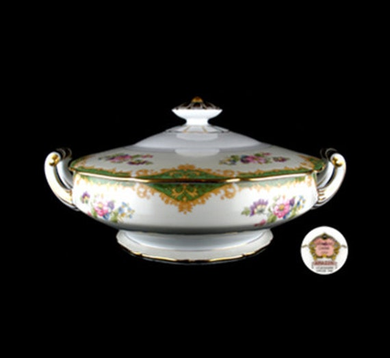 Vintage Noritake Amazon Round Covered Vegetable Bowl