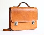 Vintage Small School Bag Briefcase Satchel
