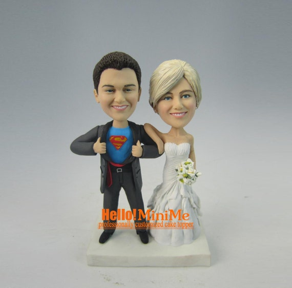 superman wedding cake toppers superman cake topper wedding cake topper custom by hellominime 20622