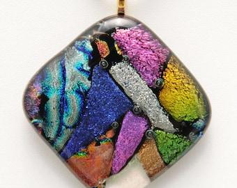 Fused Dichroic Glass Pendant (No. 13-122)
