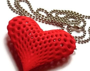 3d printed jewelry- Pendant / necklace -  ' Oh my heart'